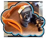 MINUITのカメラストラップ