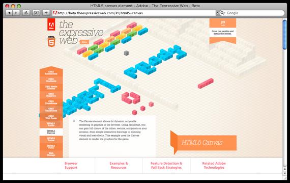 HTML5 canvas element - Adobe - The Expressive Web - Beta