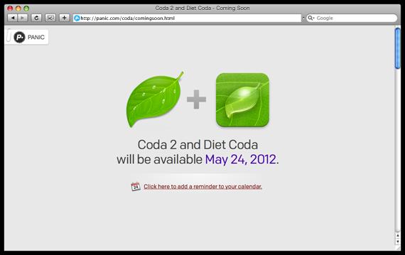 Coda 2 and Diet Coda - Coming Soon