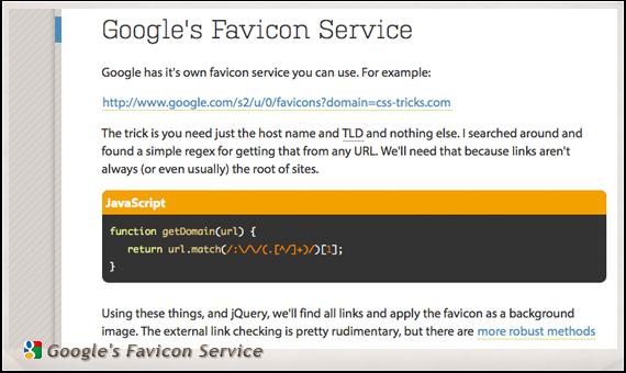 Google's Favicon Service
