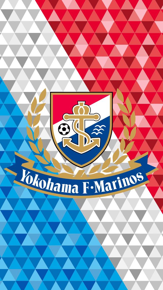 2014 横浜F・マリノス iPhone壁紙 第1弾 #2 Tricolore+Emblem