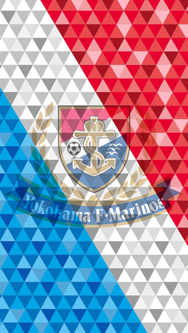 2014 横浜F・マリノス iPhone壁紙 第1弾 #3 Tricolore+Emblem (Multiply)