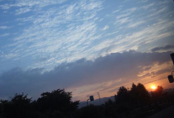 朝霧の空模様1