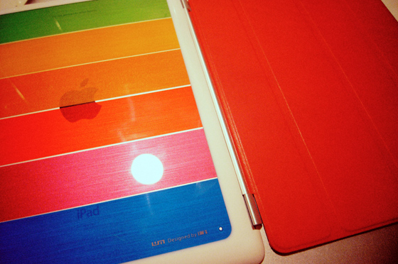 LIM'S Rainbow Hard Case For iPad 2 4