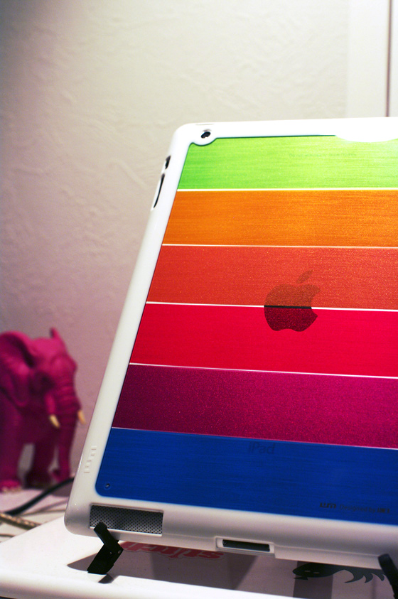 LIM'S Rainbow Hard Case For iPad 2 6
