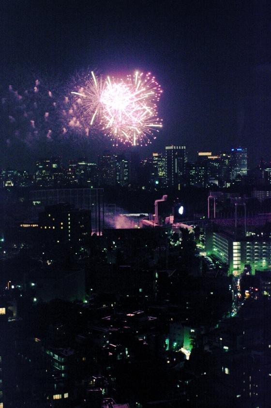 新オフィスで神宮外苑花火鑑賞 5
