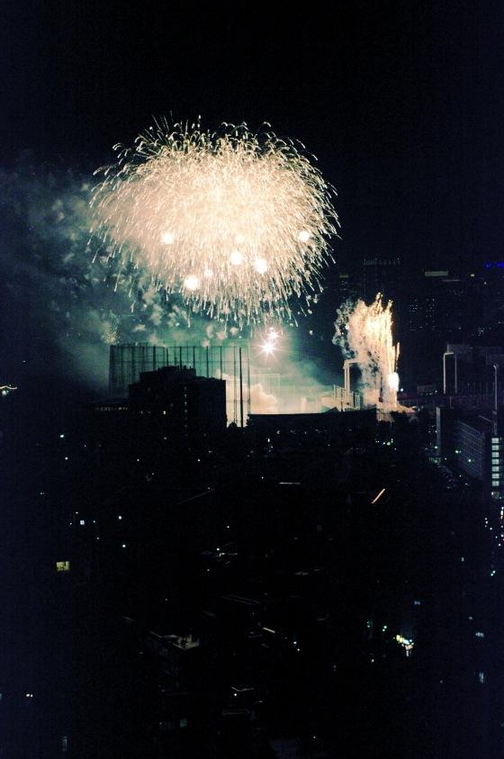 新オフィスで神宮外苑花火鑑賞 9