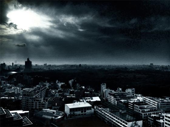 iPhone4Sで撮った神宮前オフィス(18F)からの夕焼けまとめ 20