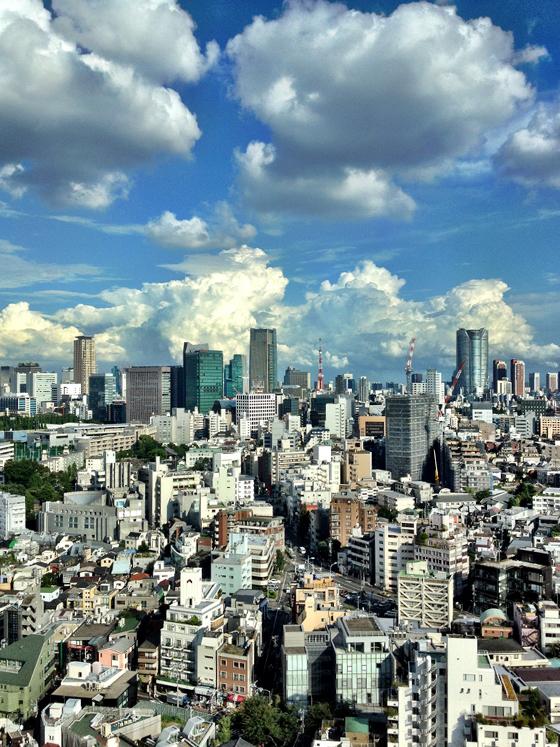iPhone4Sで撮った神宮前オフィス(18F)からの眺め 4