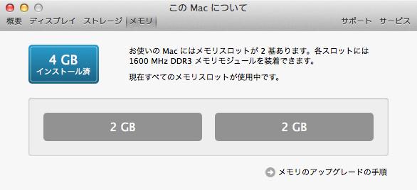 MacBook Pro (15-inch, Mid 2012) のメモリ増設して16GBへ 2